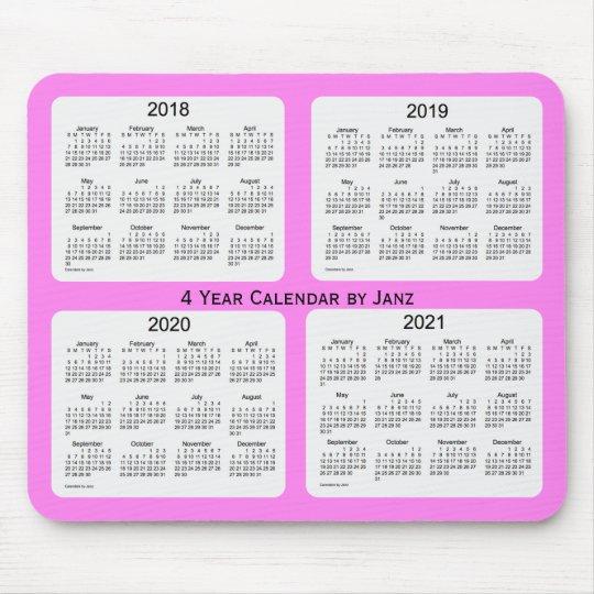 Calendrier 2018_2021 Tapis De Souris 2018 2021 violette calendrier de 4 ans par Janz