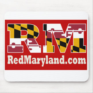 Tapis de souris 2018 rouge de logo du Maryland