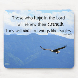 Tapis De Souris 40:31 chrétien de montée d'Isaïe de force d'Eagle