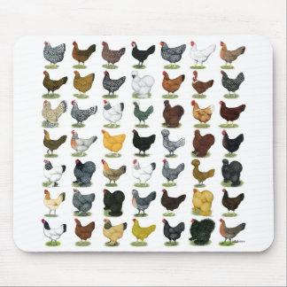 Tapis De Souris 49 poules de poulet
