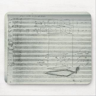 Tapis De Souris 9ème symphonie de Beethoven, manuscrit de musique