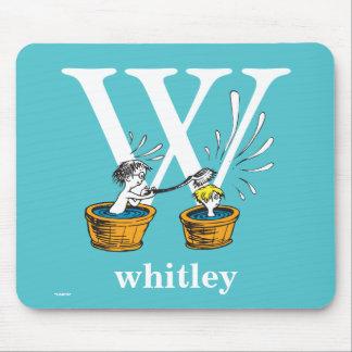 Tapis De Souris ABC de Dr. Seuss's : Lettre W - Le blanc |
