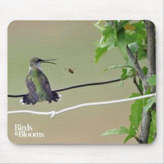 Tapis De Souris Abeille de colibri et de miel