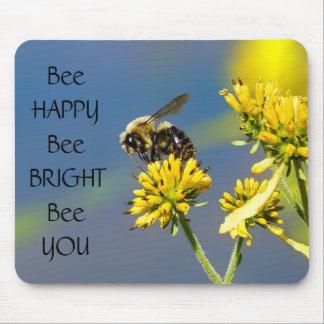 Tapis De Souris Abeille lumineuse d'abeille heureuse d'abeille