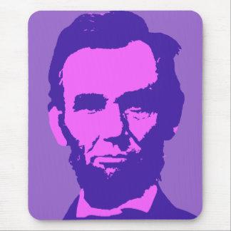 Tapis De Souris Abraham Lincoln dans le rose et le pourpre
