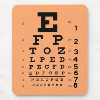 Tapis De Souris Abricot médical de diagramme d'oeil d'optométrie