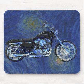 Tapis de souris abstrait de moto