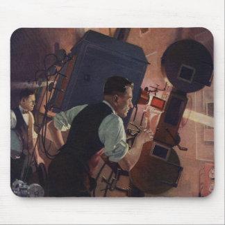 Tapis De Souris Affaires vintages, projectionniste de salle de