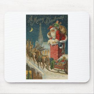 Tapis De Souris Affiche 1906 clous de Père Noël de cru original