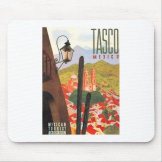 Tapis De Souris Affiche 1950 de voyage de Tasco Mexique