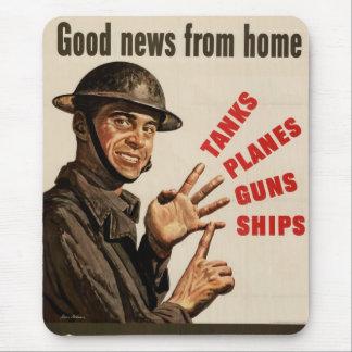 Tapis De Souris Affiche vintage de guerre de 2ÈME GUERRE MONDIALE