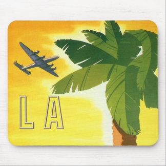 Tapis De Souris Affiche vintage de voyage, Los Angeles, la