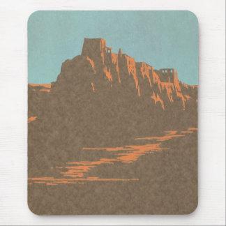Tapis De Souris Affiche vintage de voyage, Taos, Nouveau Mexique