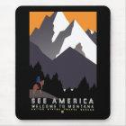 """Tapis De Souris """"Affiche vintage de WPA Montana """""""