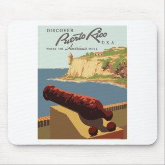 Tapis De Souris Affiche vintage Porto Rico de voyage