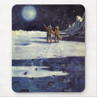 Tapis De Souris Aliens vintages d'astronaute de la science-fiction