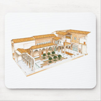 Tapis De Souris Aljaferia. Saragosse Espagne. Palais islamique