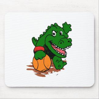 Tapis De Souris Alligator jouant au basket-ball