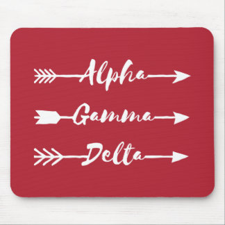 Tapis De Souris Alpha flèche gamma de delta