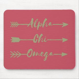 Tapis De Souris Alpha flèches d'Omega | de Chi