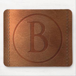 Tapis De Souris alphabet cuir lettre B