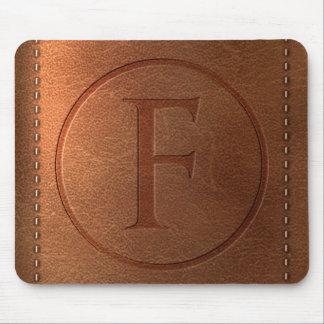Tapis De Souris alphabet cuir lettre F