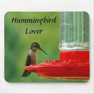 Tapis De Souris Amant Mousepad de colibri