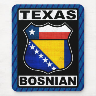 Tapis de souris américain bosnien de signe du