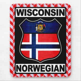 Tapis de souris américain norvégien du Wisconsin