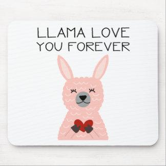 Tapis De Souris Amour de lama vous pour toujours