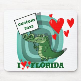 Tapis De Souris amour drôle la Floride de la bande dessinée i de