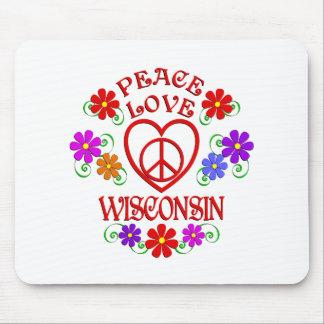 Tapis De Souris Amour le Wisconsin de paix