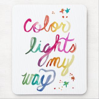 Tapis De Souris Amusement coloré lumineux d'arc-en-ciel d'art de