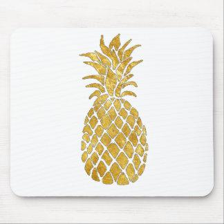 Tapis De Souris ananas de regard de feuille d'or