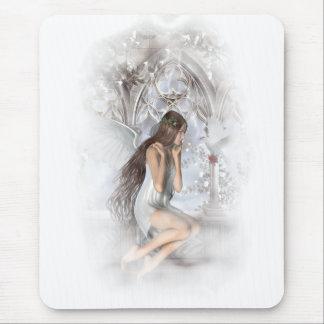 Tapis De Souris Ange gothique et sa vignette de colombe