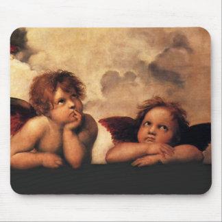 Tapis De Souris Anges Sistine Madonna de Raphael 2 anges