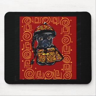 Tapis De Souris Année noire de carlin du chien
