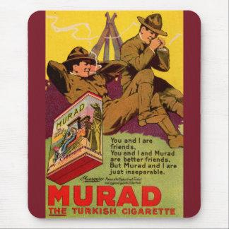 Tapis De Souris Annonce de 1918 cigarettes de WWI Murad