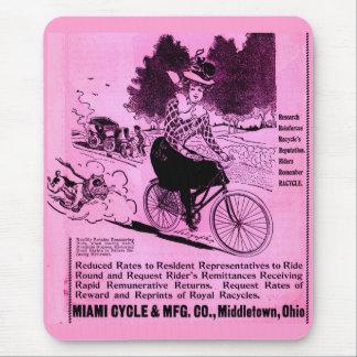 Tapis De Souris annonce de bicyclette de 1890s le Racycle