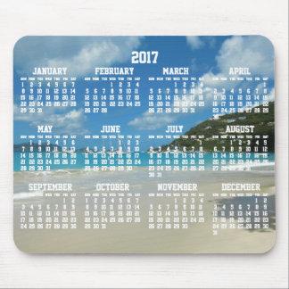 Tapis de souris annuels du calendrier 2017 de