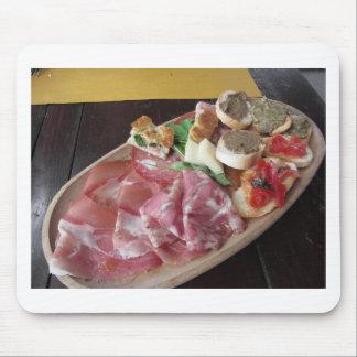 Tapis De Souris Apéritif toscan rustique typique avec le crostini