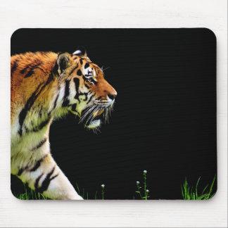 Tapis De Souris Approche de tigre - illustration d'animal sauvage