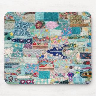 Tapis De Souris Aqua et conception bleue de tapisserie d'édredon