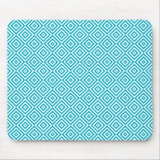 Tapis De Souris Aqua géométrique de motif d'illusion optique