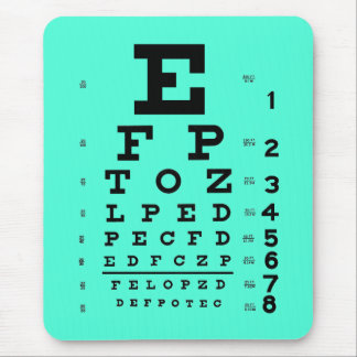 Tapis De Souris Aqua médical de diagramme d'oeil d'optométrie