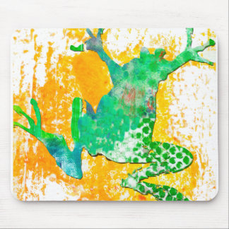 Tapis De Souris Aquarelle mignonne de grenouille verte