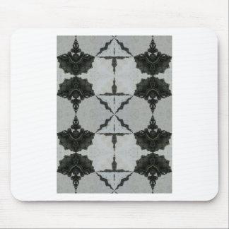 Tapis De Souris Araignée, noir et gris de loup de kaléidoscope
