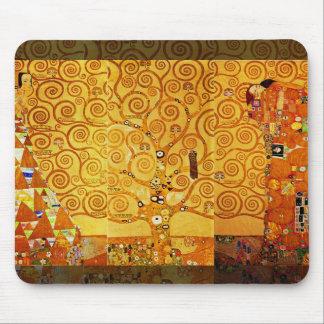 Tapis De Souris Arbre de Gustav Klimt d'art Nouveau de la vie