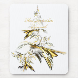 Tapis De Souris Arbre de Noël sur le blanc 001