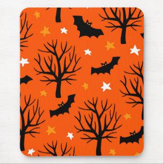 Tapis De Souris Arbre éffrayant de Halloween avec des battes et
